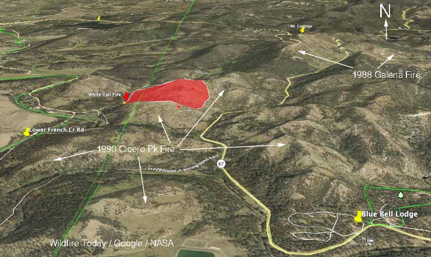 map Whitetail Fire