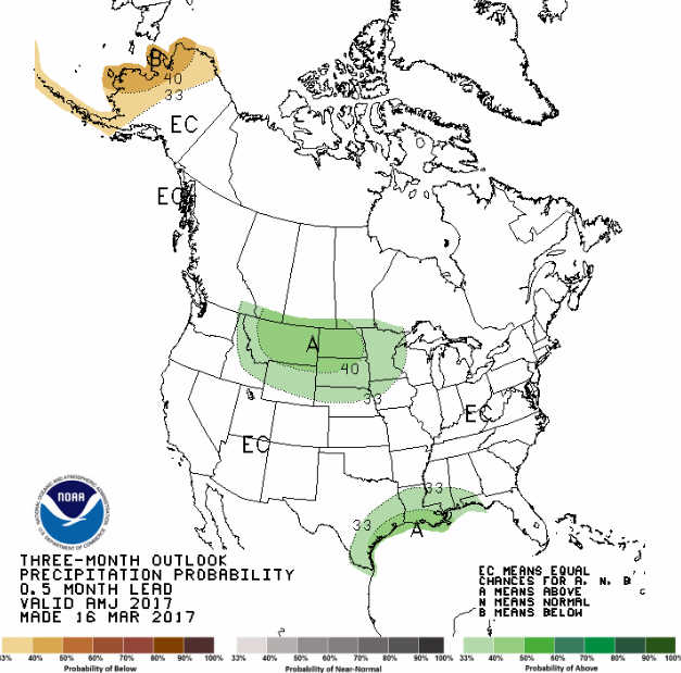 3 month precipitation outlook