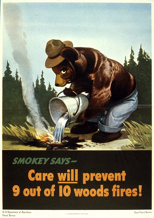 Smokey Bear's original poster