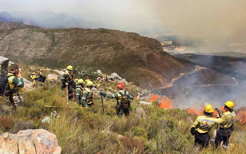 Firefighters provide disaster management training in South Africa