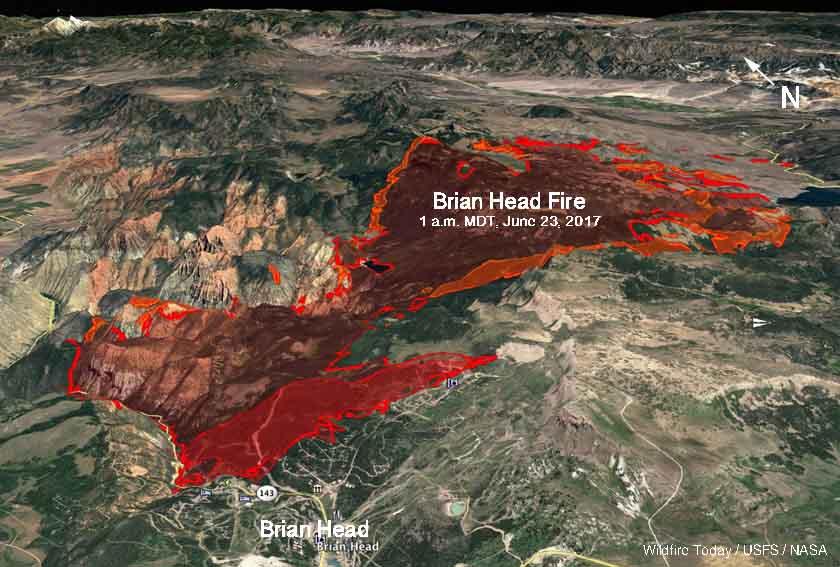map Brian Head Fire Utah