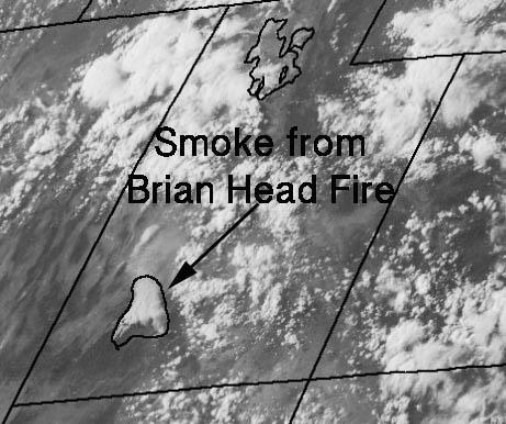 smoke Brian Head Fire satellite