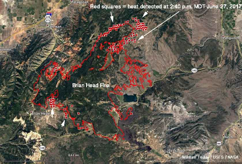 Map Brian Head Fire
