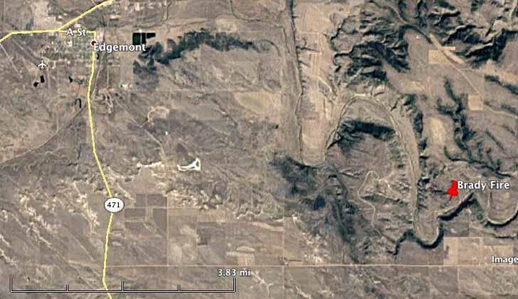 map Brady Fire South Dakota