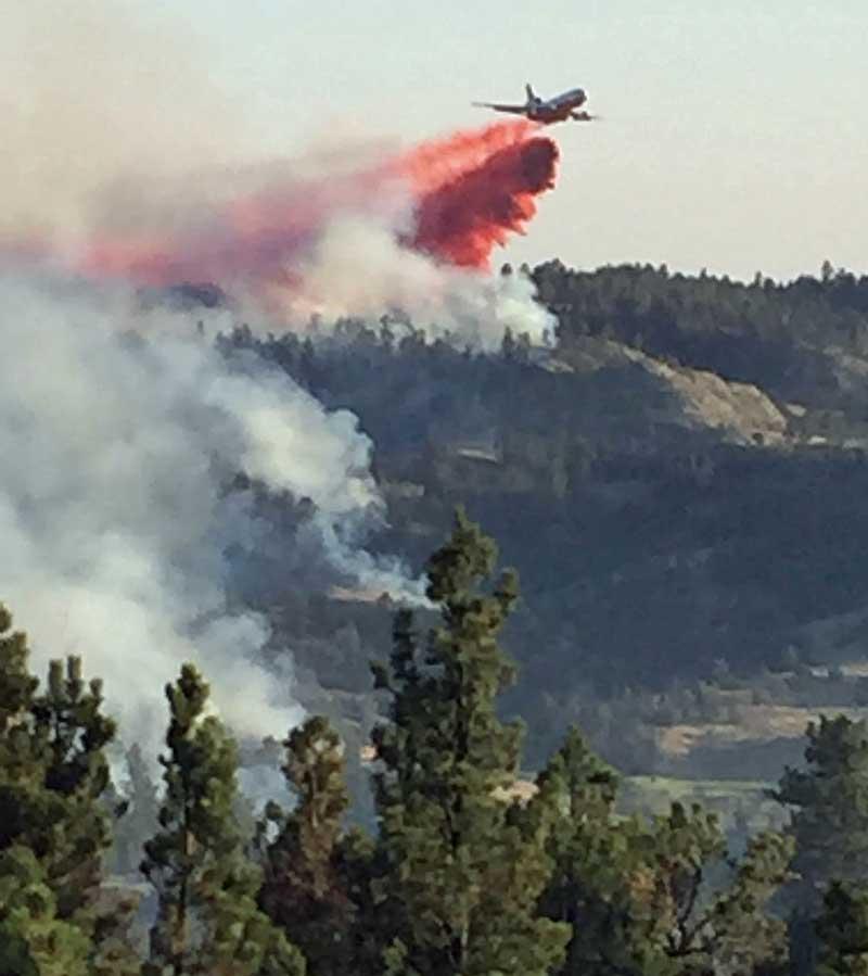 Lodgepole Complex fires montana DC-10