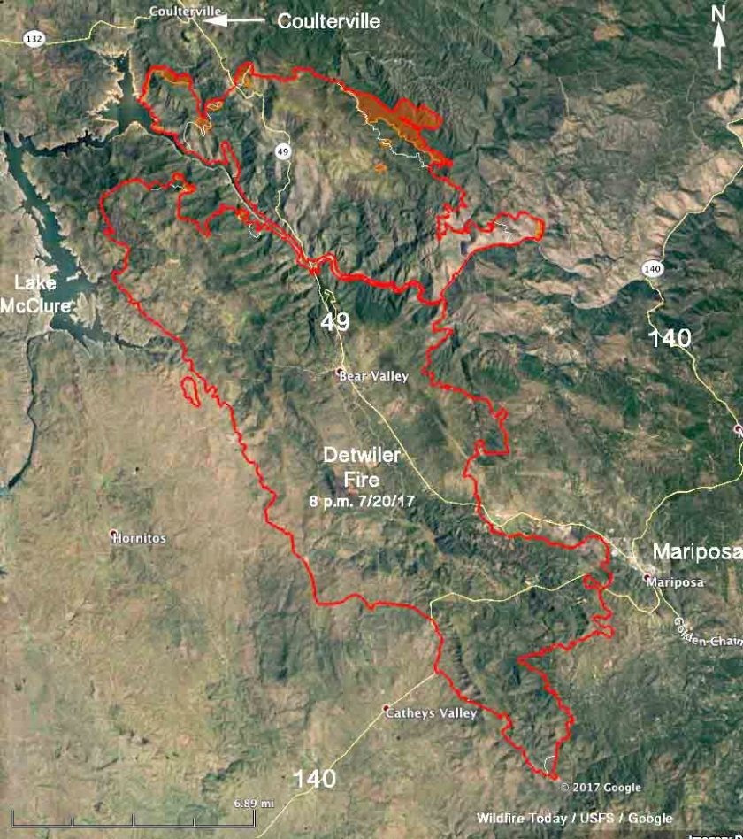Map of the Detwiler Fire