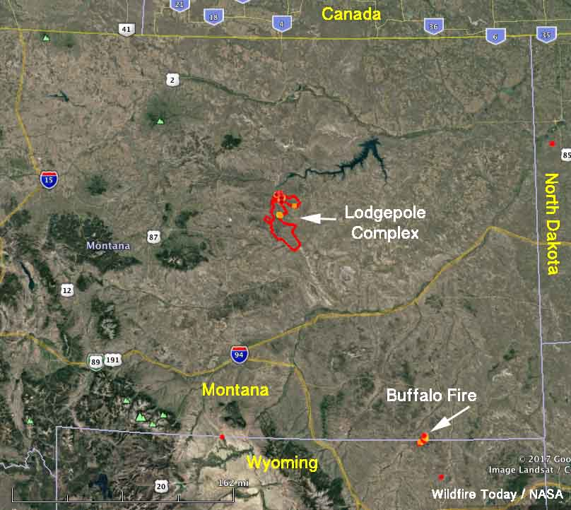 Fires in Eastern Montana