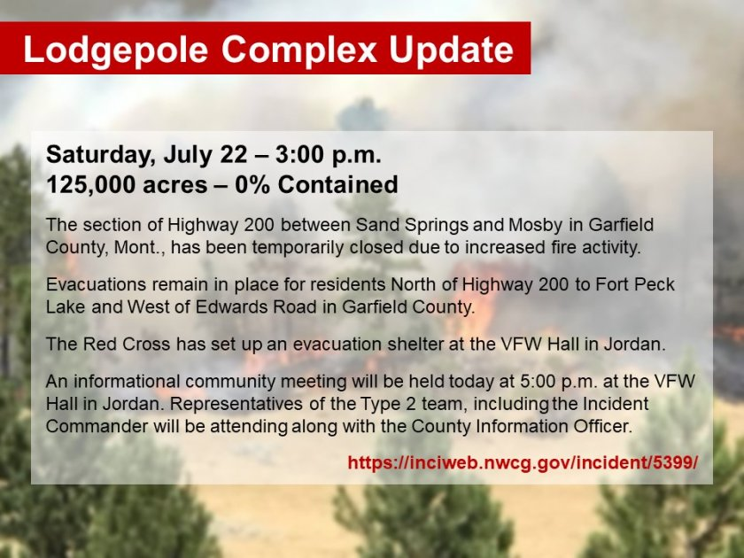 Lodgepole complex fires update