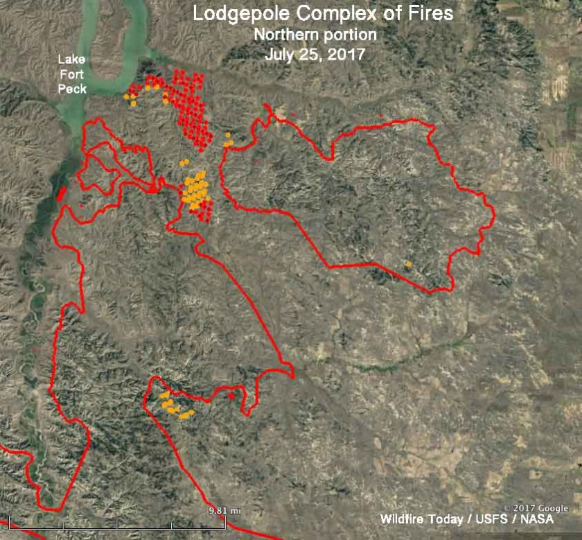 Lodgepole Complex of fires