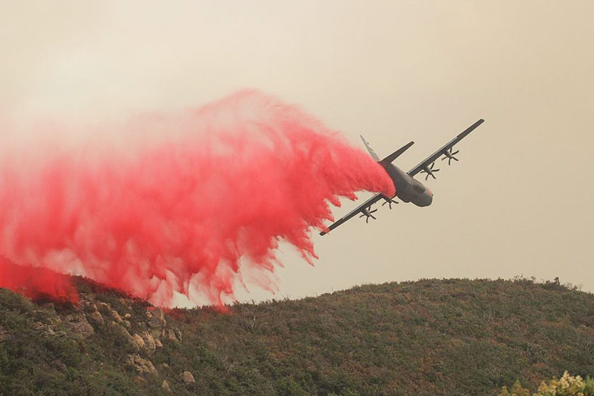 Whittier Fire MAFFS C-130