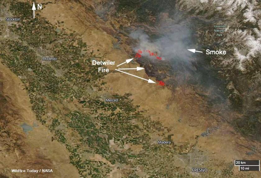 Satellite photo Detwiler Fire