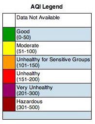 Air Quality Index Legend