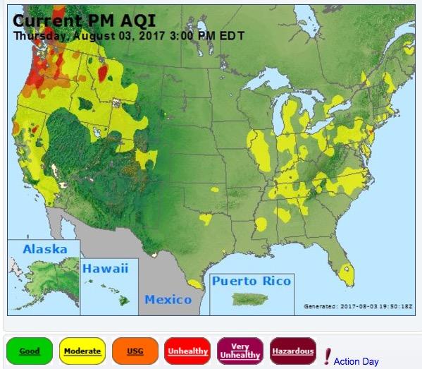air quality smoke united states