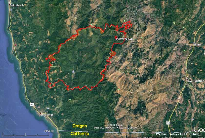 Wildfire Activity Continues In Northwest California And Southwest Oregon - Us-wildfire-activity-map