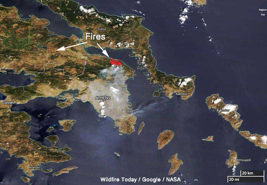 Firefighters dealing with 90 wildfires in Greece