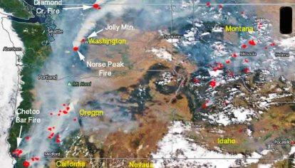 Diamond Creek Fire Burns Into Canada Wildfire Today