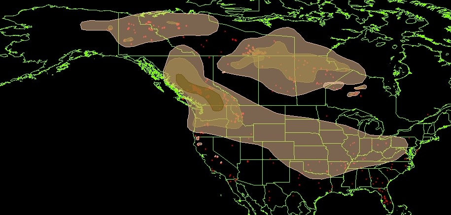 Maps of wildfires and smoke in the US Northwest and British