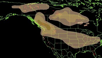 Maps Of Wildfires And Smoke In The US Northwest And British - Wildfire map southeast us map
