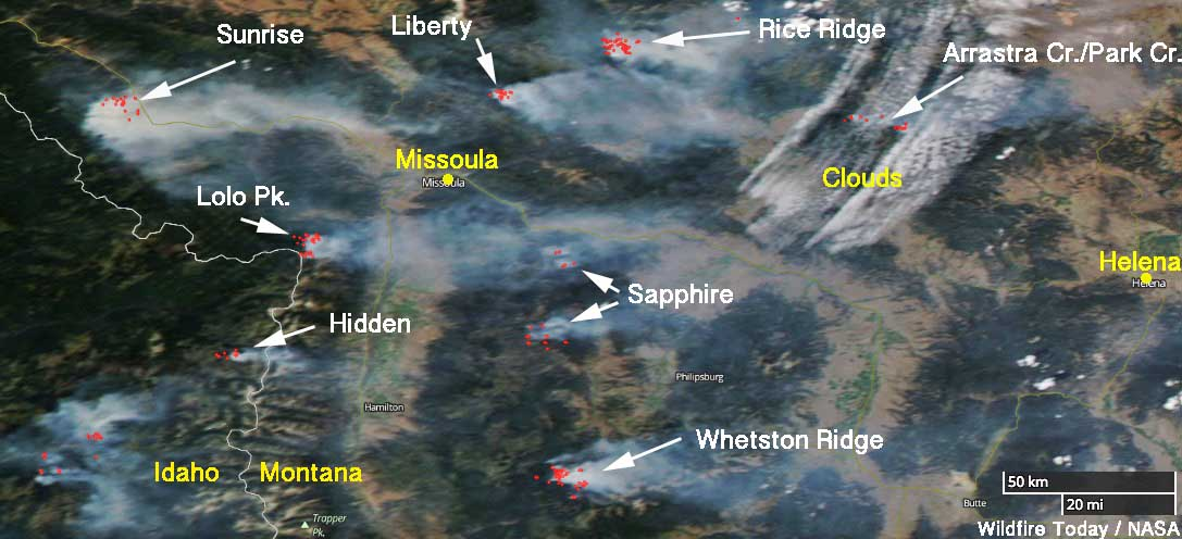 Fires in Western Montana still very active