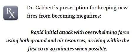 Dr. Gabbert prescription new fires magafires prevent