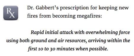 Dr. Gabbert prescription new fires magafires prevent