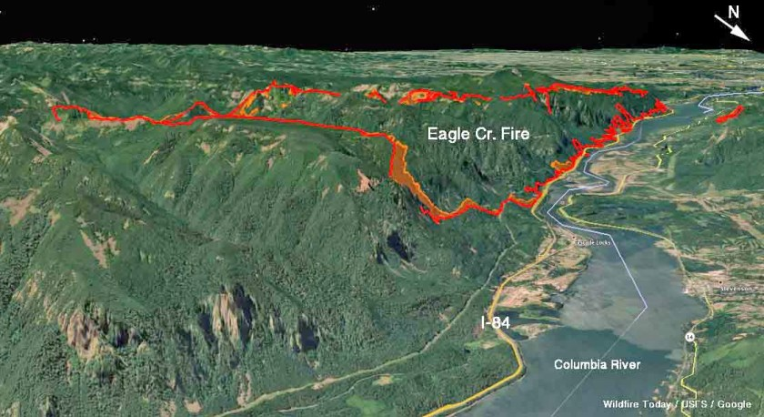 3-D map of the Eagle Creek Fire