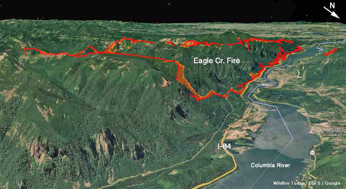 Eagle Creek fire burns structures and forces evacuations along the