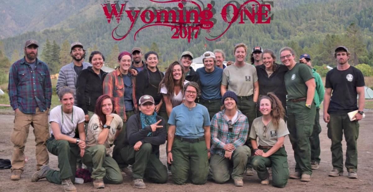 BLM women's crew in Wyoming