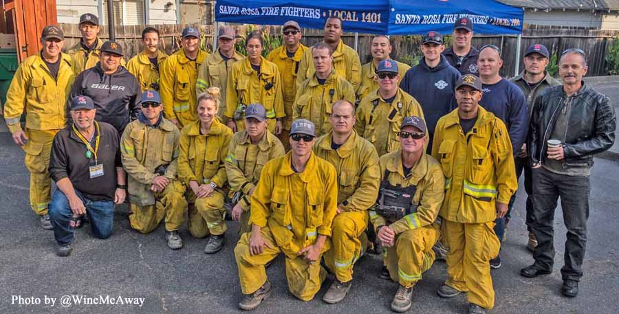 Firefighters conduct firing operations on Pocket and Nuns Fires