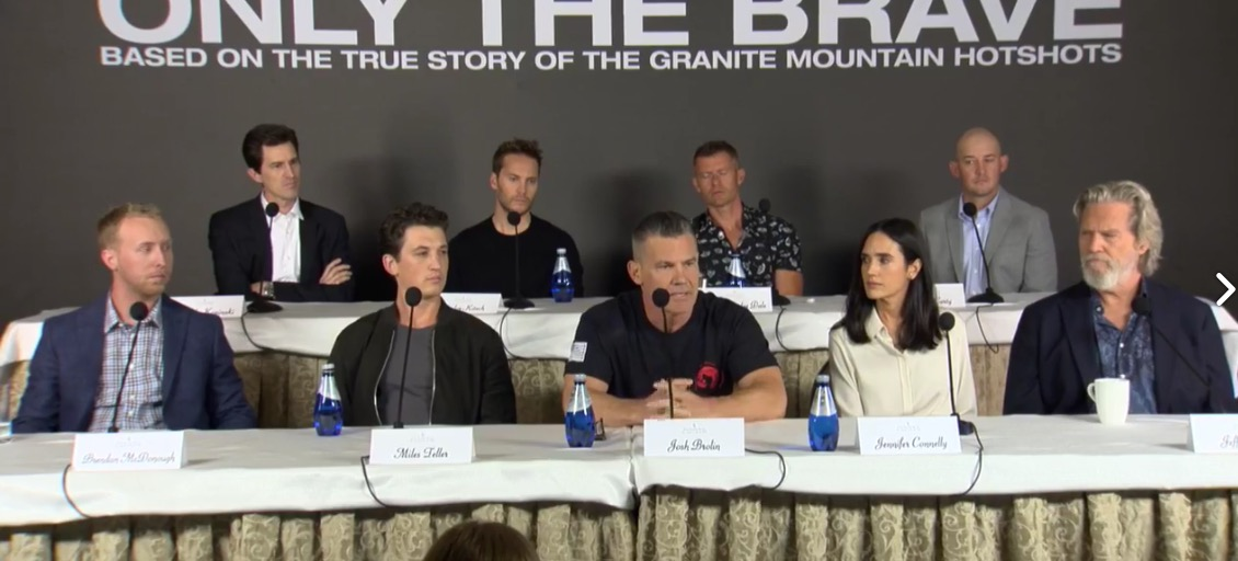"Press conference with the cast of ""Only the Brave"""
