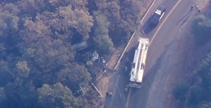 water tender accident in Napa County