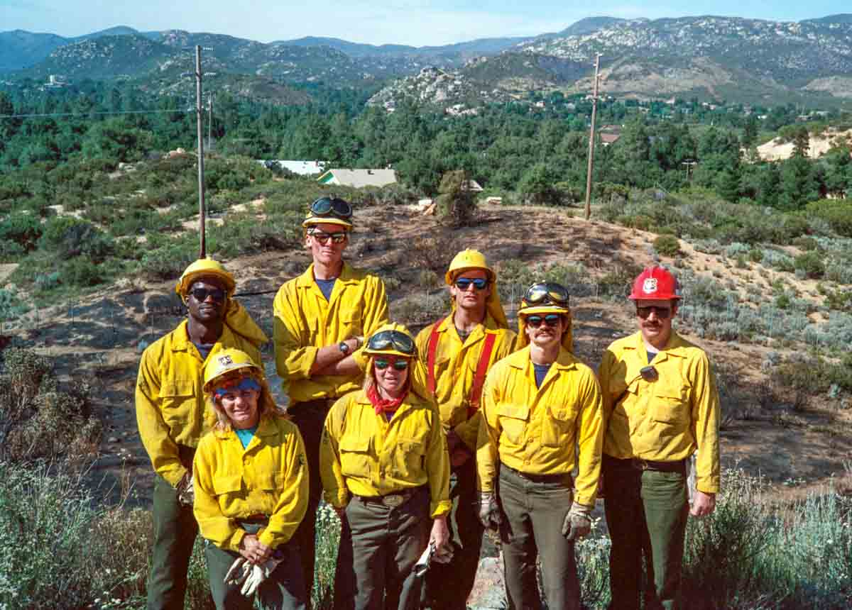USFS engine crew Descanso, CA 1990