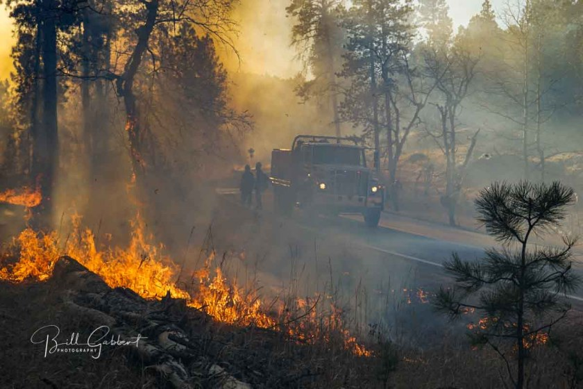 burning out Legion Lake Fire
