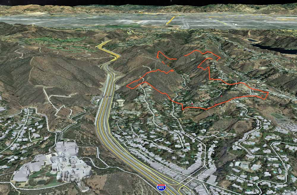 Sepulveda Pass Fire Map.The 405 Opens After Being Closed By The Skirball Fire In Los Angeles