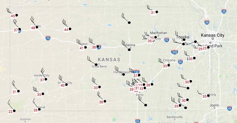 Kansas strong wind