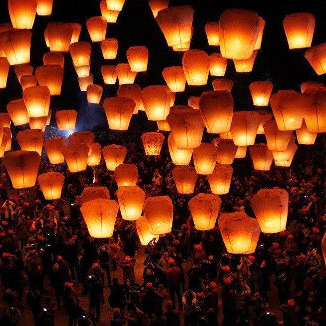 Sky lanterns launch hundreds fire wildfire dangerous