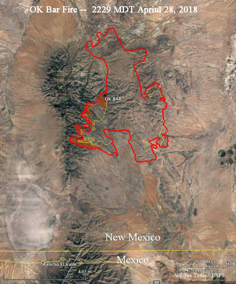 OK Bar Fire grows by almost 8,000 acres