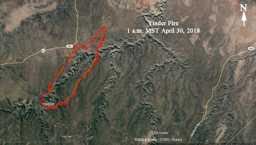 Map of the Tinder Fire