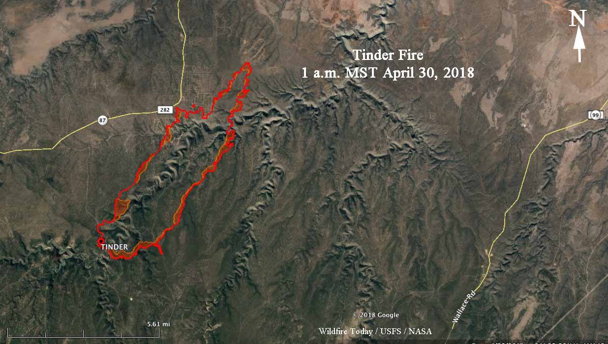 Map Of Highway 87 Arizona.Tinder Fire Forces Evacuations Burns Structures In Central Arizona