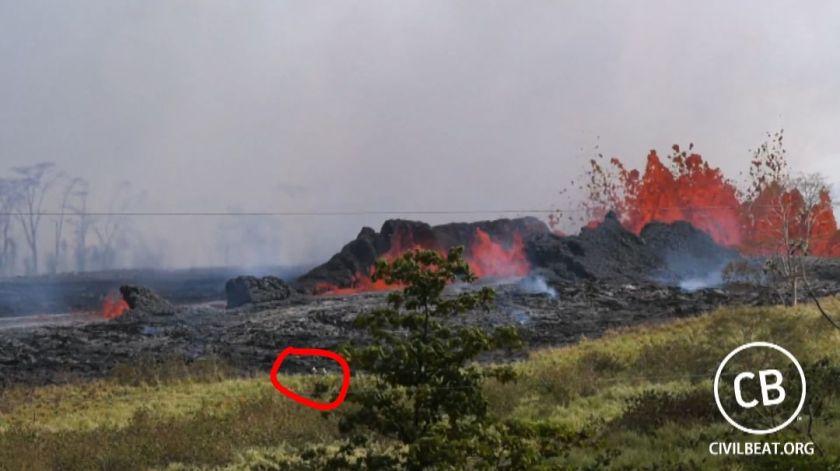 lava volcano brush fire