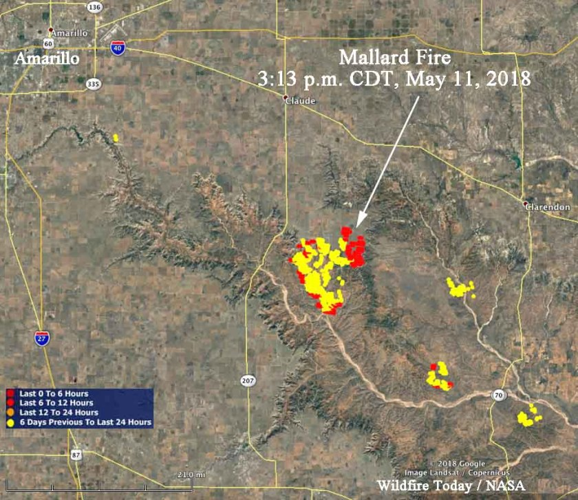 Mallard fire map