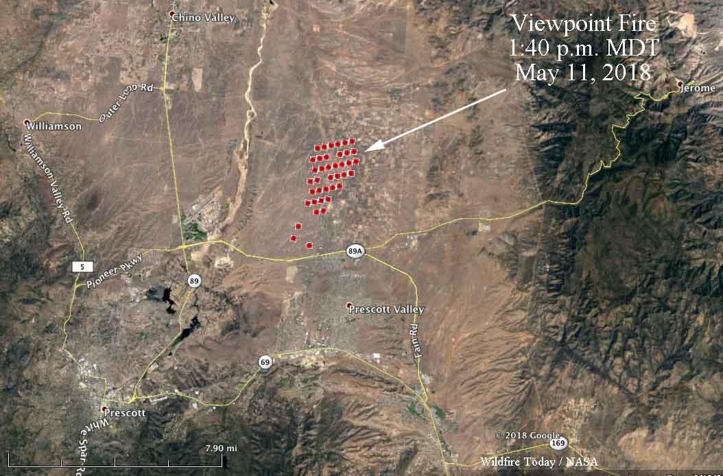 map viewpoint fire prescott valley