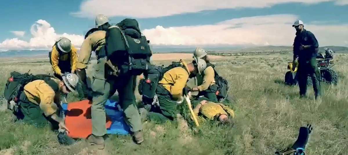 Wyoming Hotshots' team building exercise