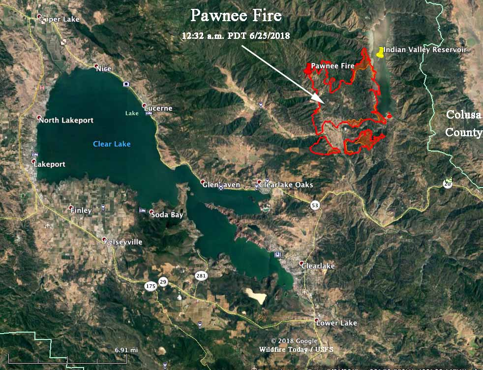 Pawnee Fire forces evacuations in Lake County, California