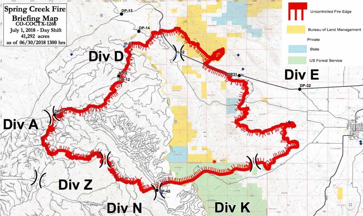 Spring Creek Fire spreads closer to La Veta, Colorado