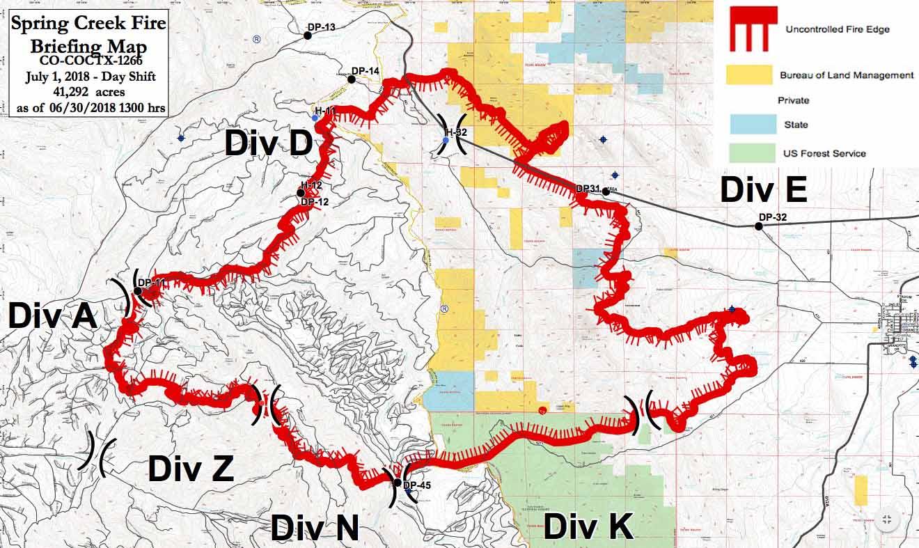 Spring Creek Fire Spreads Closer To La Veta Colorado Wildfire Today