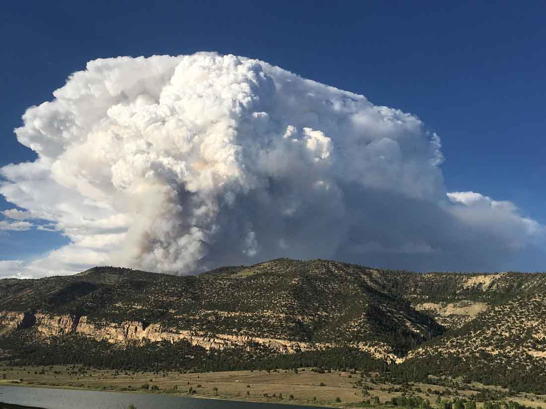 Extreme weather expected on Trail Mountain Fire Thursday