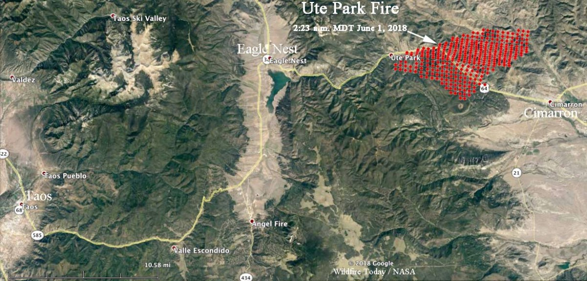 Ute Park Fire spreading very rapidly in northeast New Mexico