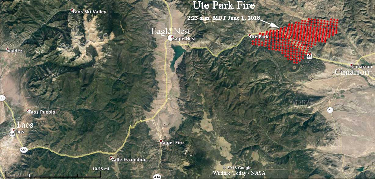 Philmont New Mexico Map.Ute Park Fire Spreading Very Rapidly In Northeast New Mexico
