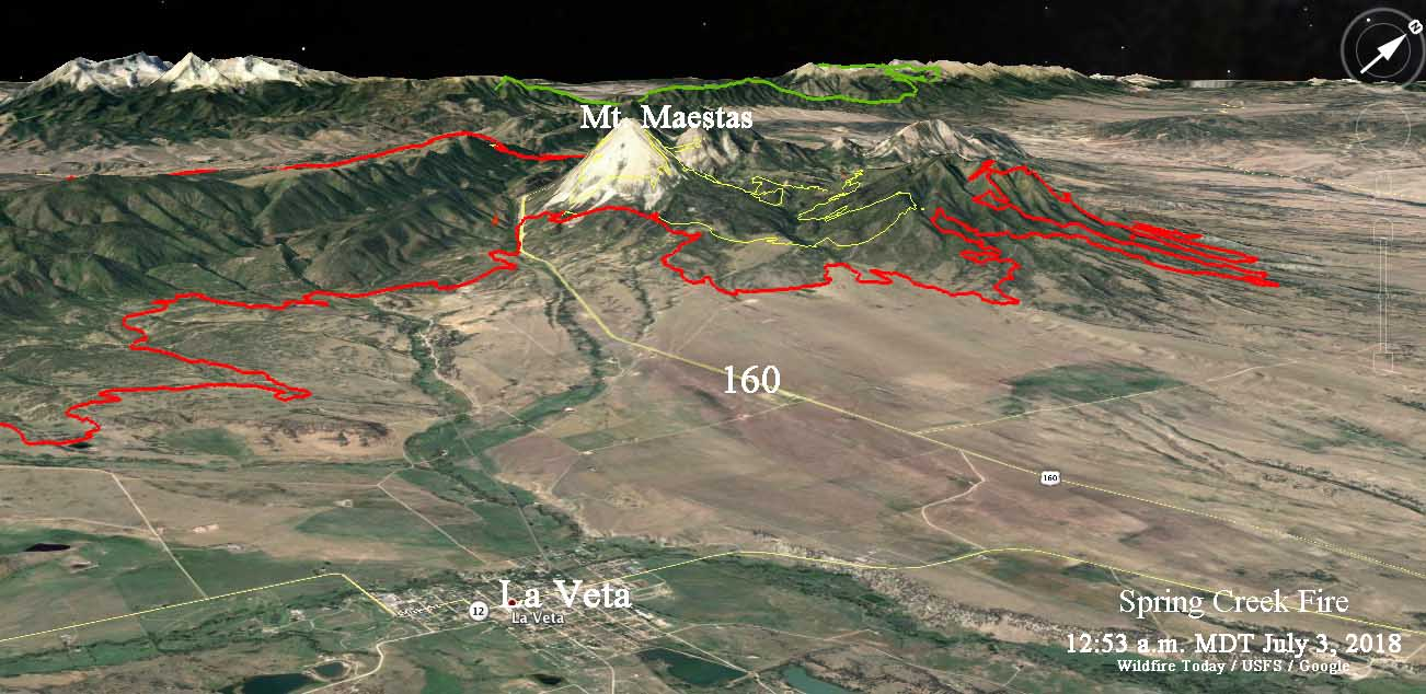 Maps Of Spring Creek Fire July 3 2018 Wildfire Today
